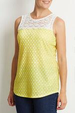 Printed Lace Vest
