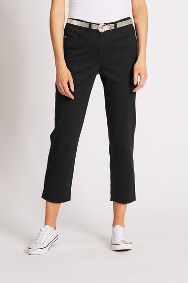 Cotton Stretch Capri Trousers