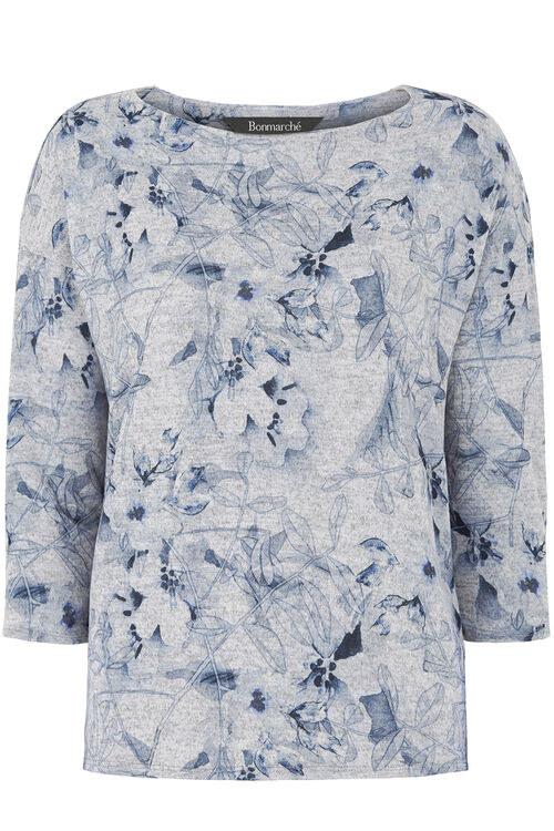 Floral Soft Touch Printed Crew