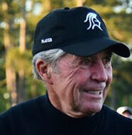 american golf News: Gary Player squats with model