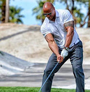 OnlineGolf News: The Rock tries to break longest ever golf drive record