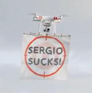 Video: Sergio Garcia Shooting Practice vs Drones
