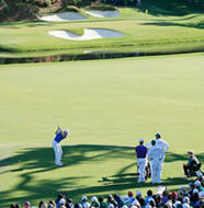 american golf News: Spieth back at Augusta.. and birdies 12th hole… twice