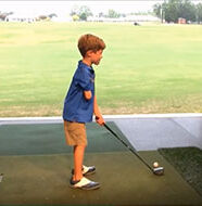 OnlineGolf News: Talented one-armed, 5-year-old golfer impersonates players' swings