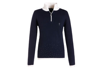GOLFINO Knitted Crystal Ladies Polo Shirt