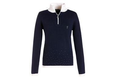 GOLFINO Ladies Knitted Crystal Polo Shirt