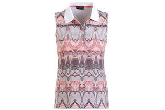 GOLFINO Sleeveless Printed Ladies Polo Shirt