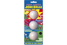 Prank Golfers Joke Balls 3 pack