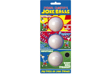 Prank Golfers Joke Balls 3 Ball Pack
