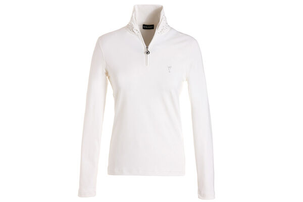 GOLFINO Ladies Scarf Collar Polo Shirt