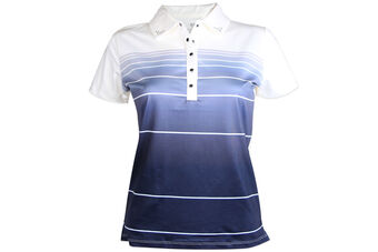 Palm Grove Sub Stripe Ladies Polo Shirt