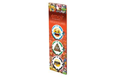 Marque-balles en forme de jetons de poker Emoji - lot de 3