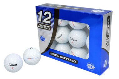 Palline da golf Second Chance Titleist DT Solo di qualità Grade A (confezione da 12)