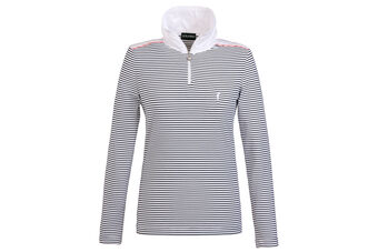 GOLFINO Stripe Dry Comfort Ladies Polo Shirt