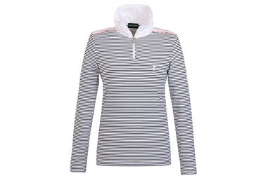 GOLFINO Ladies Stripe Dry Comfort Polo Shirt