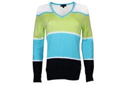 Palm Grove Sweater Block Ladies Polo Shirt