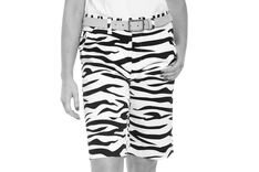 Royal & Awesome Zebra to Ze-bar Ladies Shorts
