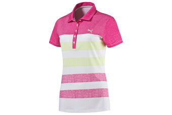 PUMA Golf Road Map Texture Ladies Polo Shirt