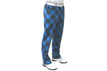 Royal & Awesome Blue Plaid Trousers