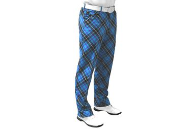 Royal & Awesome Blue Plaid Hose