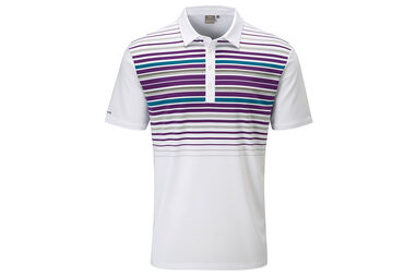 PING Cortes Striped Polo Shirt