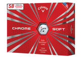 """Callaway Golf Limited Edition Chrome Soft """"58"""" Golfbälle (12 Stück)"""