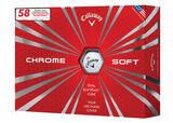 "Callaway Golf Limited Edition Chrome Soft ""58"" 12 Golf Balls"