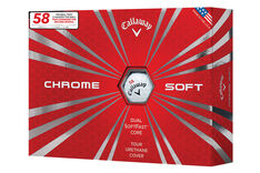 "Callaway Golf Limited Edition Chrome Soft ""58"" 12 Ball Pack"