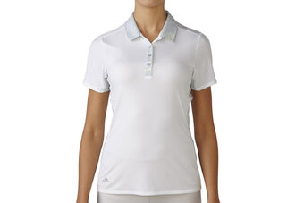 adidas Golf Sport Mesh Print Ladies Polo Shirt