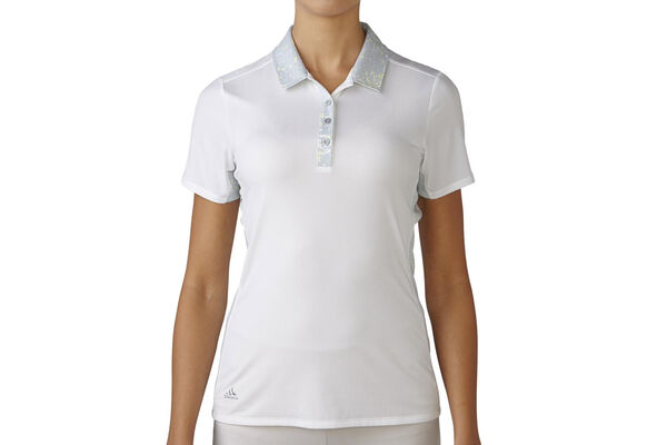 adidas Golf Ladies Sport Mesh Print Polo Shirt