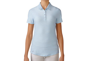 adidas Golf Cotton Stripe Poloshirt für Damen