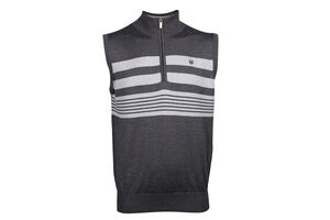 Palm Grove Stripe 1/2 Zip Vest