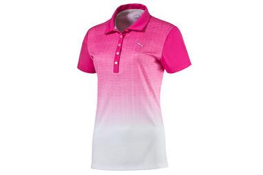 PUMA Golf Textured Fade Poloshirt Für Damen