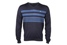 Palm Grove Stripe V-Neck Sweater