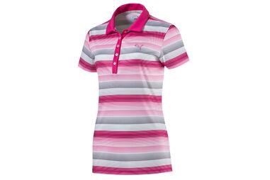PUMA Golf Ladies Road Map Stripe Polo Shirt