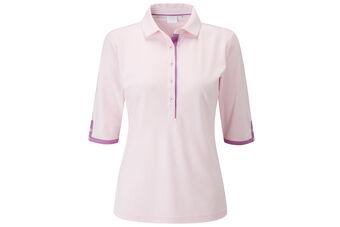 PING Brooke 3/4 sleeve Ladies Polo Shirt