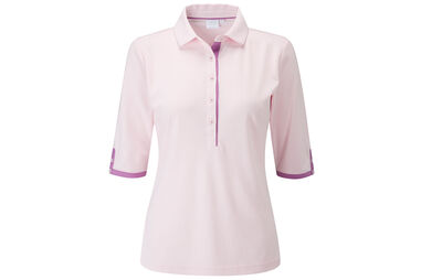 PING Ladies Brooke 3/4 sleeve Polo Shirt