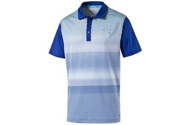 PUMA Golf Brushstripe Polo Shirt