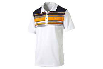 PUMA Golf Key Stripe Polo Shirt