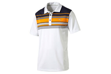 PUMA Golf Key Stripe Polo Shirt