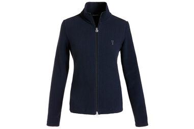 GOLFINO Full Zip Jacquard Sweater für damen
