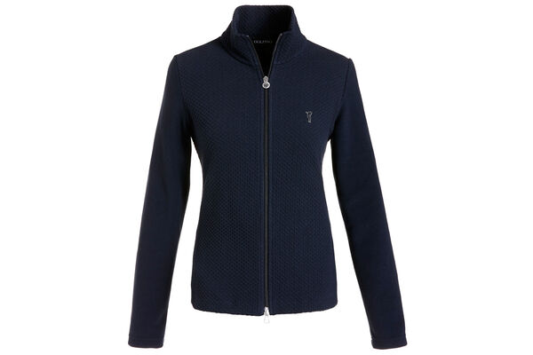 GOLFINO Full Zip Jacquard Sweater für damen