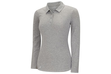 adidas Golf Ladies climalite Essentials Heather Polo Shirt