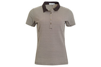 Green Lamb Courtney Mini Stripe Ladies Polo Shirt