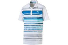 PUMA Golf Washed Stripe Polo Shirt