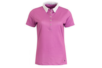 Green Lamb Charlie Floral Trim Ladies Polo Shirt
