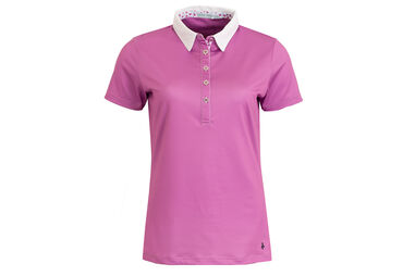 Green Lamb Ladies Charlie Floral Trim Polo Shirt