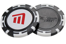 Masters Golf Poker Chip With Magnetic Ball Marker - 2 Pack