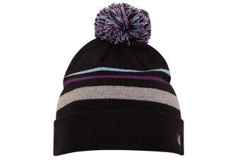Palm Grove Striped Ladies PomPom Hat