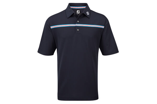 FootJoy Pique Chest Stripe Polo Shirt